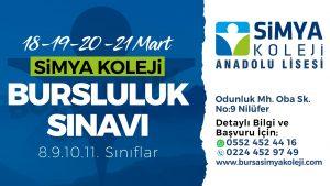 Bursa Simya Koleji Anadolu Lisesi Bursluluk Sınavı